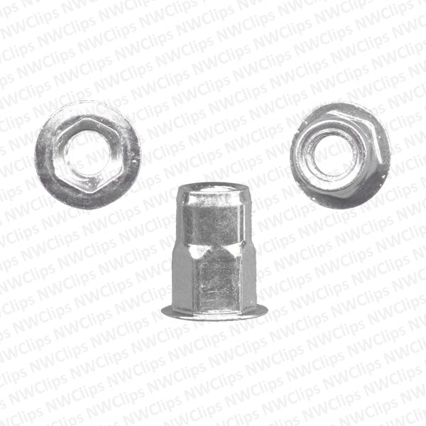 N03 - GM, Universal Zinc Finish Nutsert w/ Hex - Qty. 1