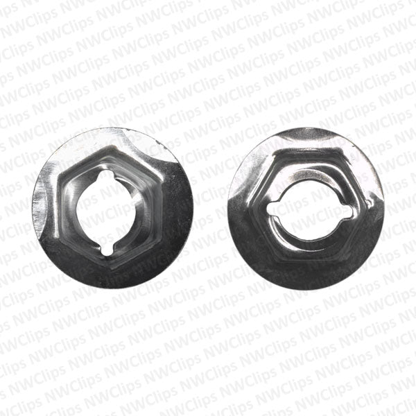 N11 - GM Universal Use Zinc Finish Thread Cutting Speed Nuts - Qty. 100
