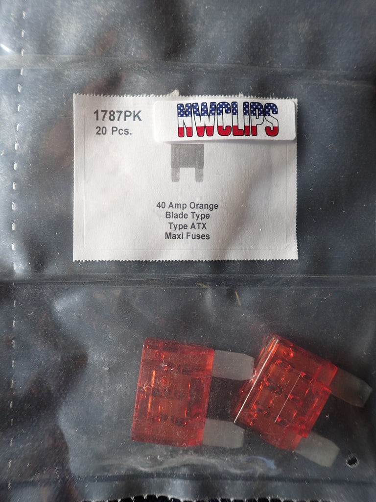 8657-1787 Blade Type Maxi Fuse ATX: Orange 40 Amp