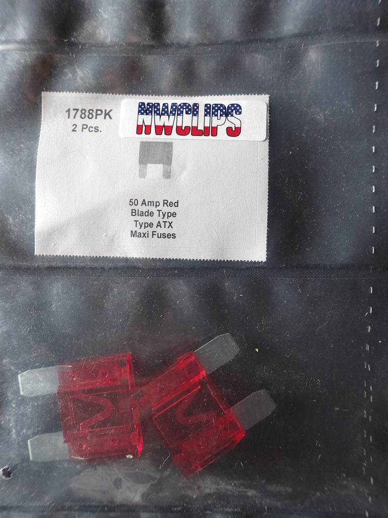 8657-1788 Blade Type Maxi Fuse ATX: Red 50 Amp