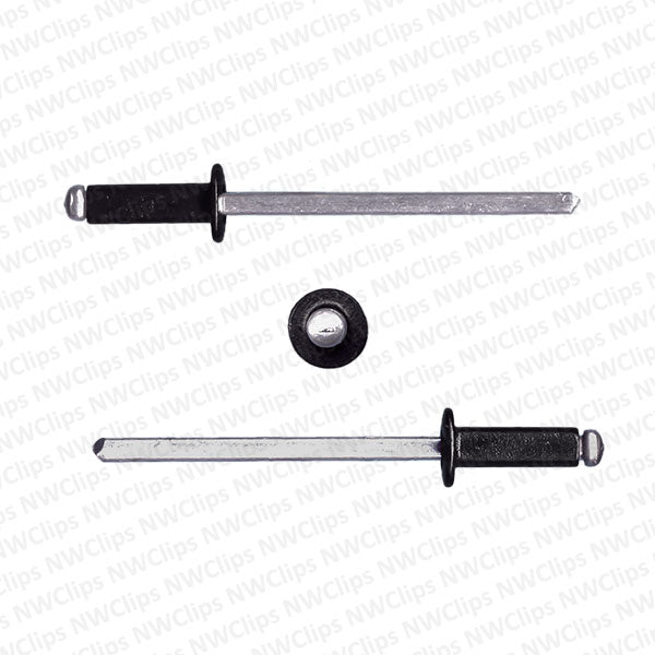 R02 -3.1mm Hole Size Black Aluminum Pop Rivets