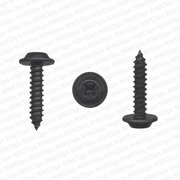 S13 - Universal Phillips #8 Black Metal Flat Top Trim Screws