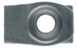 "U2946 - GM, Chrysler & Universal Black Extruded SHORT U-Nut Clip: 5/16""-18"