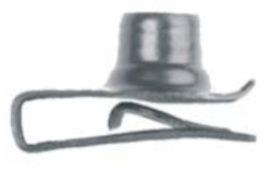 "U1835 - GM, Chrysler & Universal Black Extruded SHORT U-Nut Clip: 5/16""-18"
