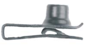 "U1836 - GM, Chrysler & Universal Black Extruded LONG U-Nut Clip: 5/16""-18"