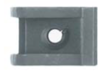 U1350 - GM, Chrysler & Universal Black Extruded SHORT U-Nut #8 Screw