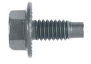 B9867- Universal Use Black Phosphate Locking SAE Body Bolt 1/2""