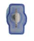 "8674-12165: Blue Male Crimp & Seal Wire Terminal:1/4"" Tab -Qty. 10"