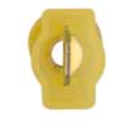 "8674-12163: Yellow Male Crimp & Seal Wire Terminal:1/4"" Tab -Qty. 10"