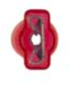 "8674-12166: Red Female Crimp & Seal Wire Terminal:1/4"" Tab -Qty. 10"