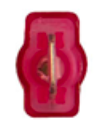 "8674-12167: Red Male Crimp & Seal Wire Terminal:1/4"" Tab -Qty. 10"