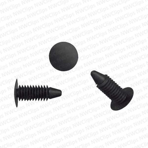 T12 - Chrysler & Universal Weatherstrip Black Nylon Tree Retainers
