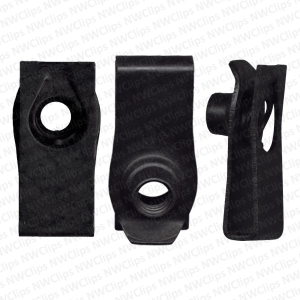 U01 - GM & Universal Black Extruded U-Nut Clips