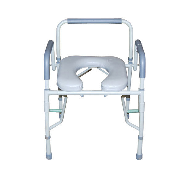 Steel Drop Arm Bedside Commode with Padded Seat & Arms  11125pskd-1