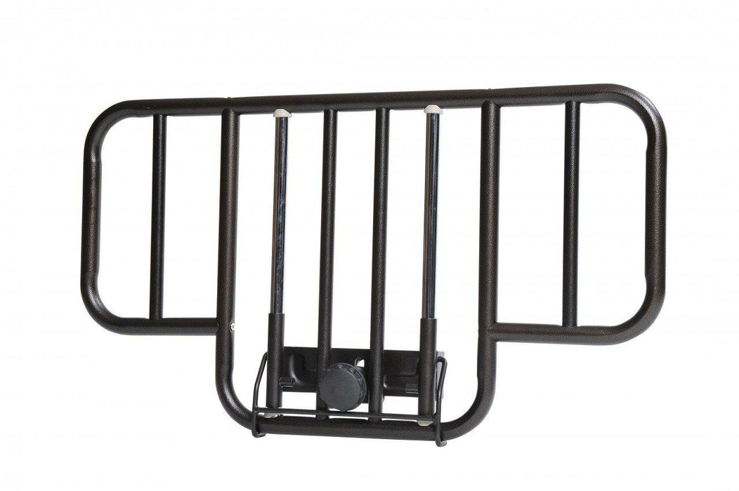 No Gap Half Length Side Bed Rails with Brown Vein Finish  15201bv