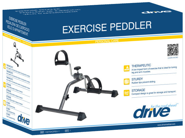 Pedal Exerciser w/Silver Vein Finish