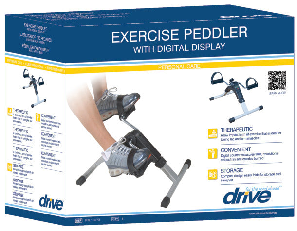Folding Pedal Excerciser w/Electronic Display
