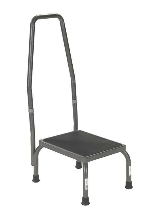 Footstool with Handrail and Non Skid Rubber Platform  13031-1sv