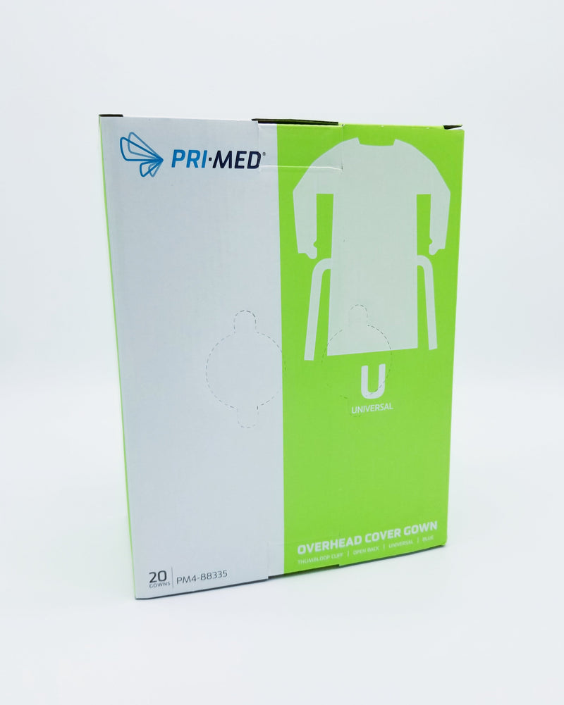 Pri-Med Overhead Cover Disposable  Gowns, Universal Size