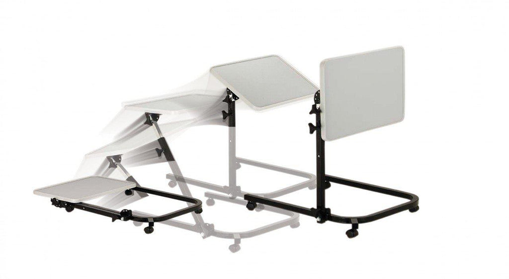 Pivot And Tilt Adjustable Overbed Table Tray Healthcare