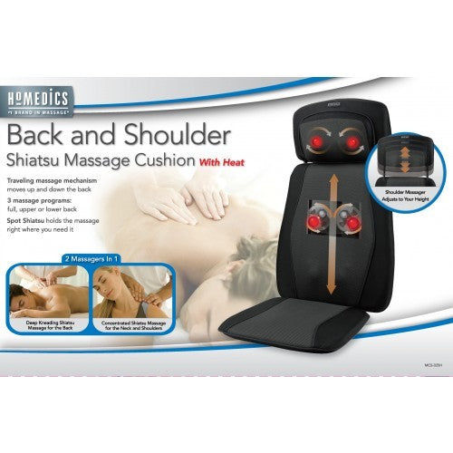 Back and Shoulder Shiatsu Massage Cushion