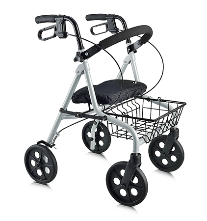 Evolution Challenger Series rollator walker silver