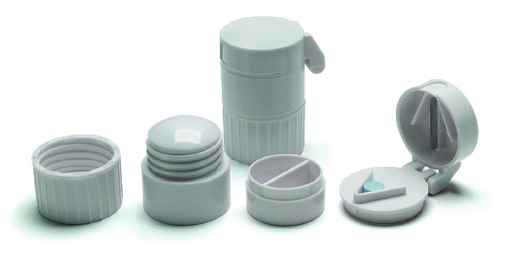 Pill Container with Cutter & Crusher