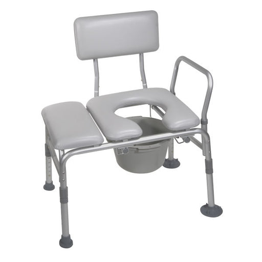 Padded Seat Transfer Bench with Commode Opening  12005kdc-1