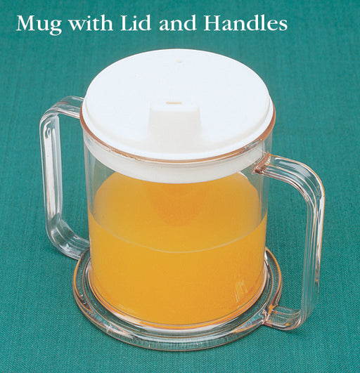 Mug with Handles & Lid 10 oz