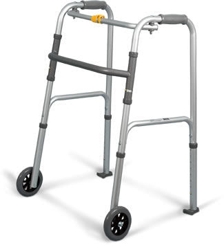 Folding Walker with Wheel and Ski Kit Small Adult