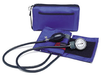 Color Pro Aneroid Sphygmomanometer Kit Royal Blue