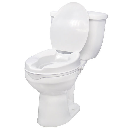 Raised Toilet Seat with Lock and Lid  12063