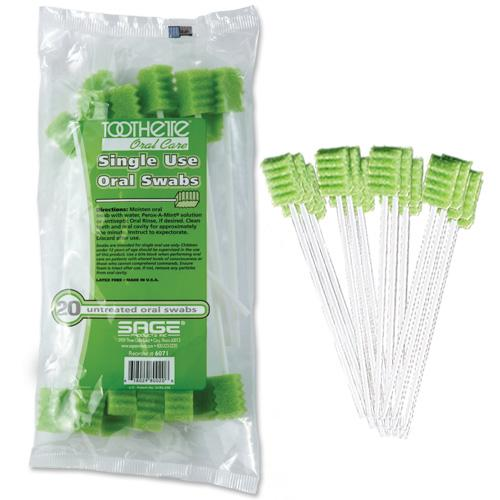 Toothette® Plus Swabs - Untreated