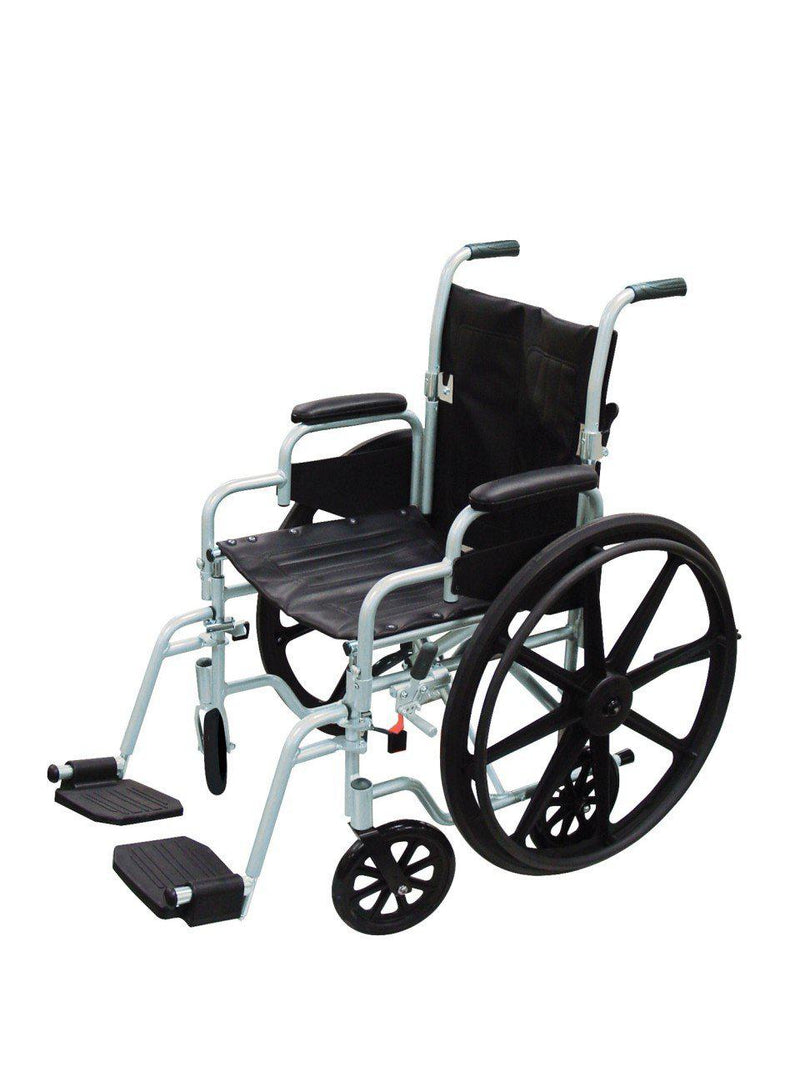 Poly Fly Light Weight Transport Chair Wheelchair with Swing away Footrest  tr18