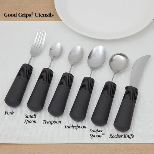 Good Grips Utensil Set Including Knife, Fork & Spoons With Weighted Handles