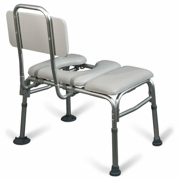 AquaSense Padded Bathtub Transfer Bench Commode — Healthcare Solutions