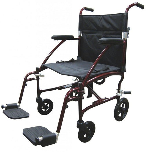 Fly Lite Ultra Lightweight Transport Wheelchair  dfl19-rd