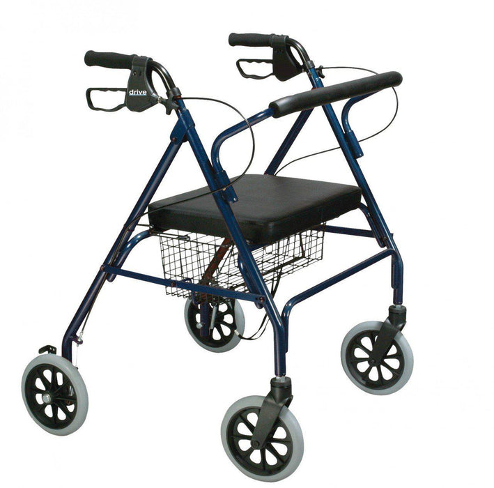 Heavy Duty Bariatric Rollator Walker with Large Padded Seat  10215bl-1