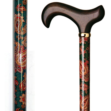 Floral Wood Cane / Paisley