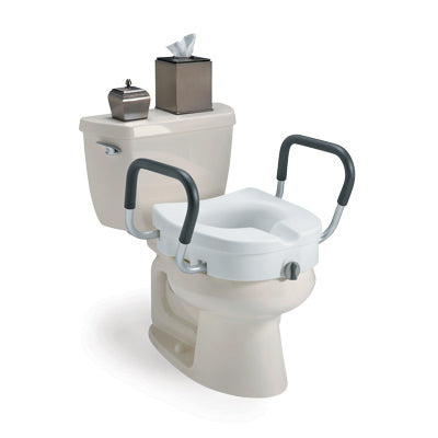 Invacare® Clamp-On Raised Toilet Seat With Arms
