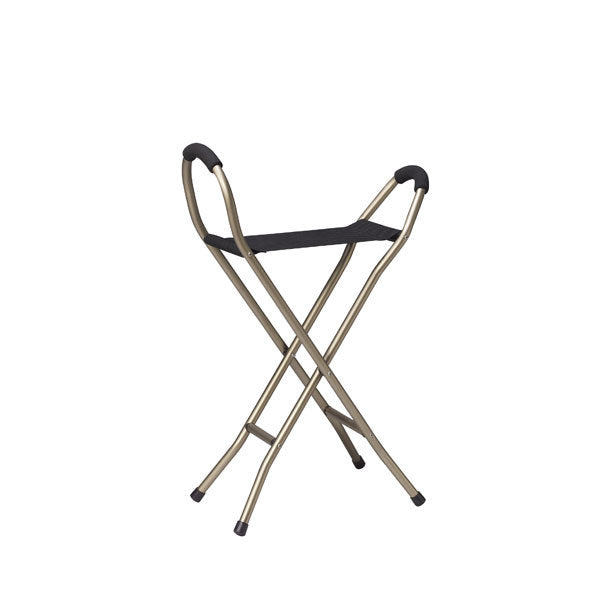 Folding Lightweight Cane with Sling Style Seat  rtl10360