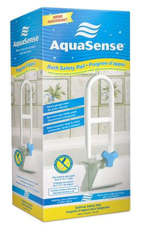 AquaSense Bath Safety Rail packaging