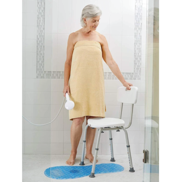 Carex Adjustable Bath and Shower Seat w/Back