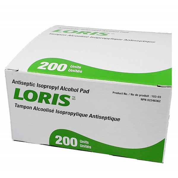 Loris Antiseptic Isopropyl Alcohol Pads