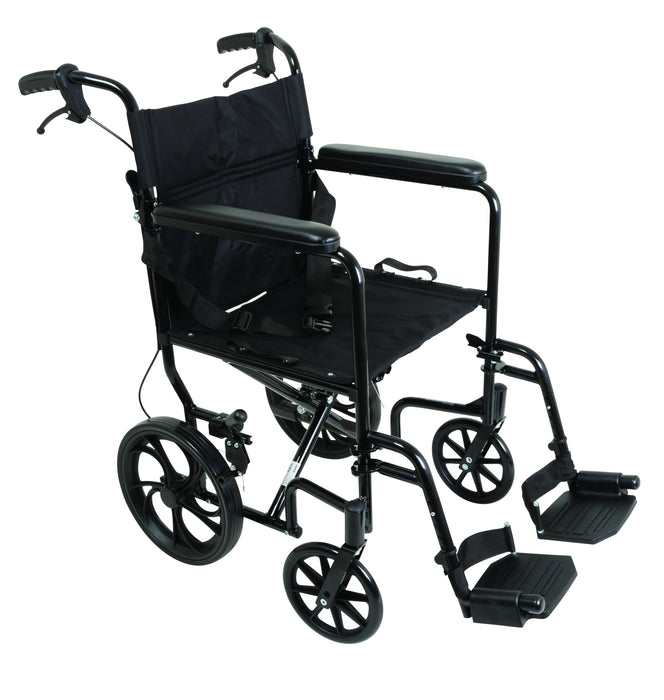 ProBasics Aluminum Transport Chair with 12-Inch Wheels