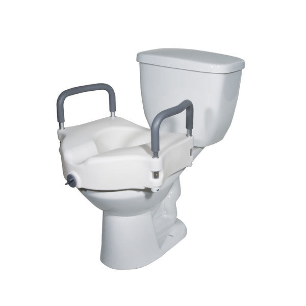 Elevated Raised Toilet Seat with removable Padded Arms  rtl12027ra