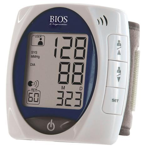 BIOS DIAGNOSTICS WRIST BLOOD PRESSURE MONITOR