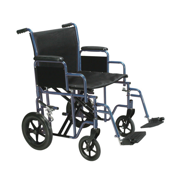 Bariatric Heavy Duty Transport Wheelchair with Swing away Footrest  btr20-r