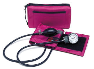 Color Pro Aneroid Sphygmomanometer Kit Magenta