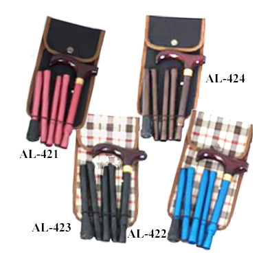Supermini Travel Folding Cane/Brown/with Black Gift Bag
